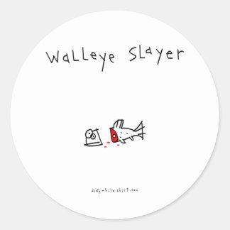 Walleye Slayer Round Sticker