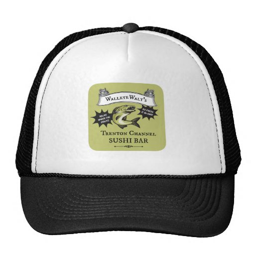 Walleye Walt's Trenton Channel Sushi Bar Mesh Hats