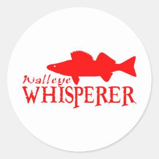 WALLEYE WHISPERER ROUND STICKER