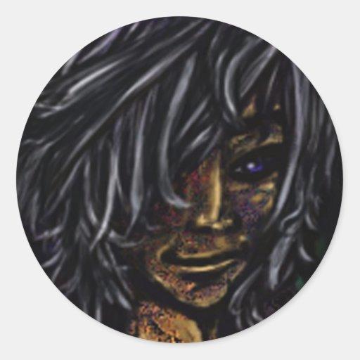 Wallflower Ghost Boy Round Stickers