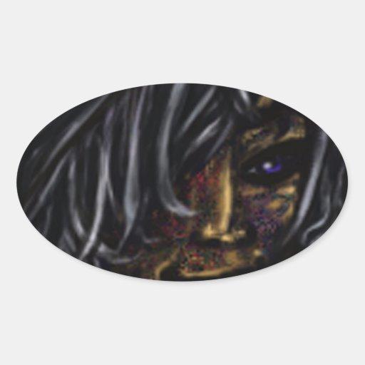Wallflower Ghost Boy Oval Sticker