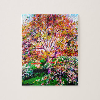 Wallnut And Apple Trees In Bloom Camille Pissarro Jigsaw Puzzle