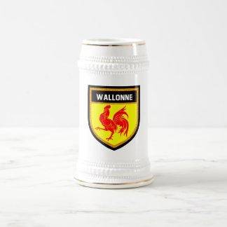 Wallonne Flag Beer Stein