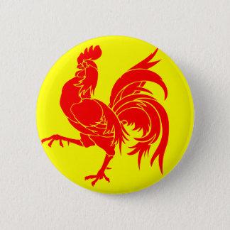 Walloon (Belgium) Flag - Drapea Walon 2 Inch Round Button