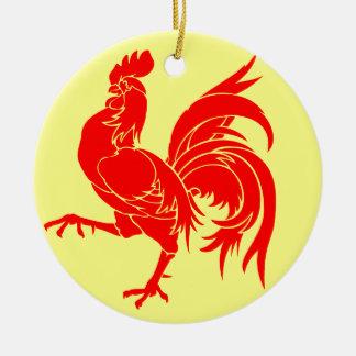 Walloon (Belgium) Flag - Drapea Walon Ceramic Ornament
