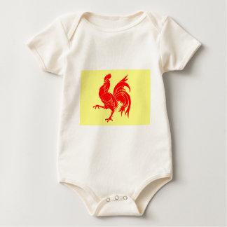 Walloon (Belgium) Flag - Drapeau de la Wallonie Baby Bodysuit