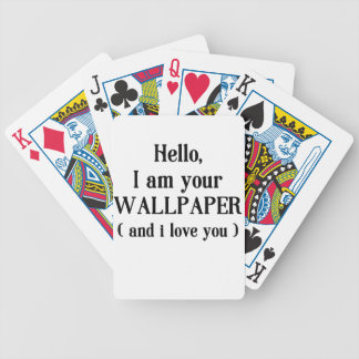 Wallpaper Bicycle Playing Cards
