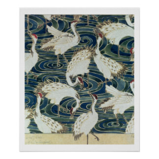 Wallpaper design, by the Silver Studio, c.1890 Poster