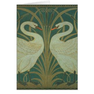 """Wallpaper Design for panel of """"Swan, Rush & Iris"""" Card"""