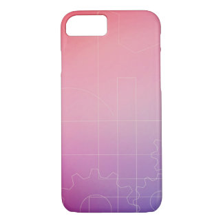 Wallpaper in shades of pink iPhone 8/7 case