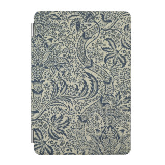 Wallpaper with navy blue seaweed style design iPad mini cover