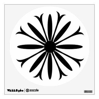 Walls 360 Custom Wall Decal BLACK & WHITE FLOWER L