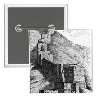 Walls of Antioch, 1894 2 Inch Square Button