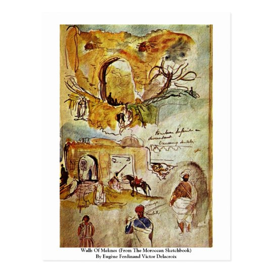 Walls Of Meknes (From The Moroccan Sketchbook) Postcard