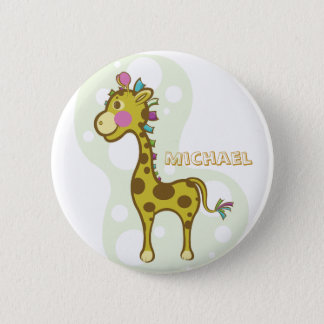 Wally the Giraffe Character 2 Inch Round Button
