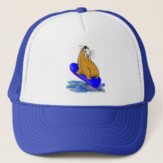 Wally The Walrus Goes Surfing Trucker Hat