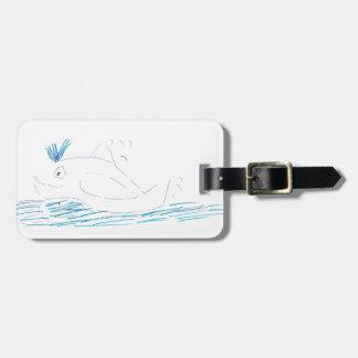 Wally Whale Luggage Tag