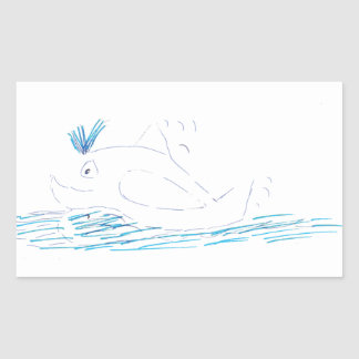 Wally Whale Rectangular Sticker