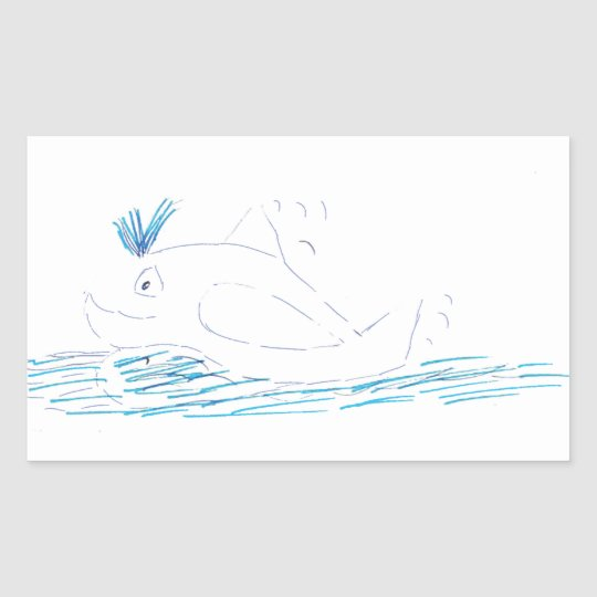 Wally Whale Rectangular Sticker