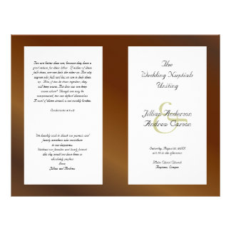 Walnut Catholic Folded Wedding Program Template