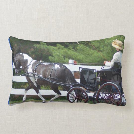 walnut hill carriage driving horse show lumbar pillow