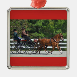 walnut hill carriage driving horse show metal ornament