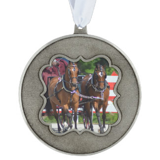 walnut hill carriage driving horse show ornament