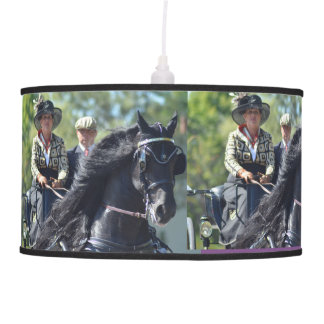 walnut hill carriage driving horse show pendant lamp