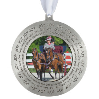 walnut hill carriage driving horse show pewter ornament