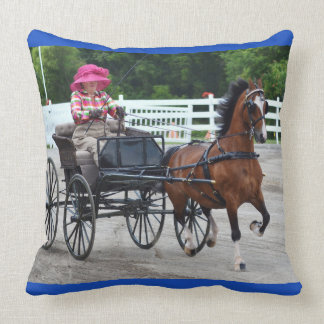 walnut hill carriage driving horse show throw pillow