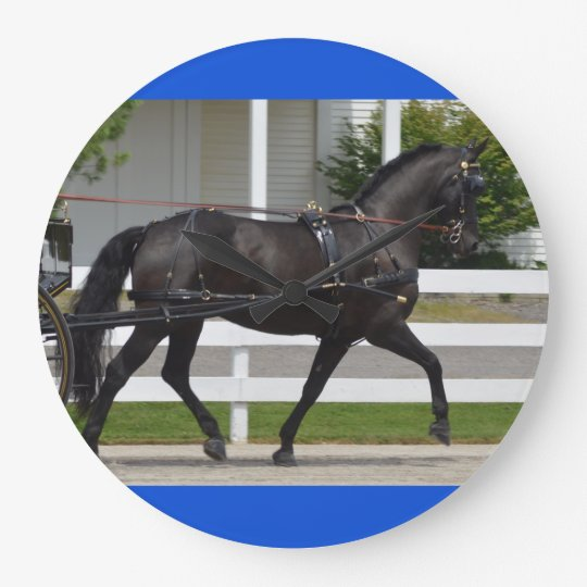 walnut hill carriage driving horse show wall clock