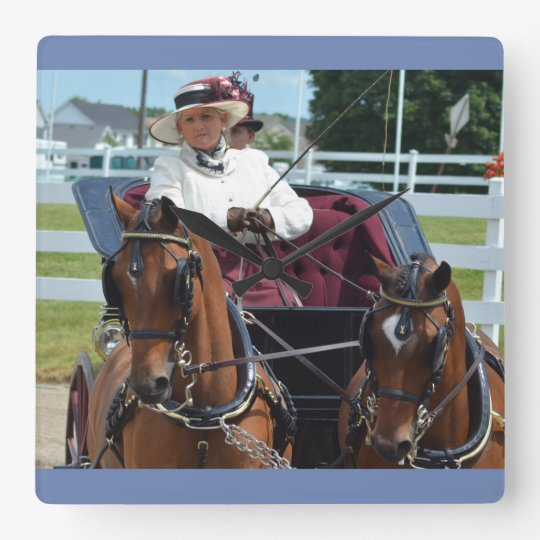 walnut hill carriage driving horse show wallclock