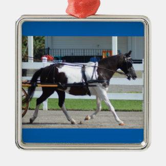 Walnut Hill Carriage Driving Show 2015 Silver-Colored Square Ornament