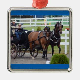 Walnut Hill Wed 2015 Silver-Colored Square Ornament
