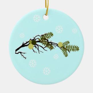 Walnut Hills Round Ceramic Ornament