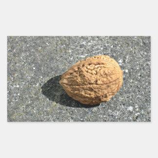 Walnut on a granule sticker