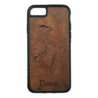 Walnut on Maple Carved Wood *personalize* Carved iPhone 8/7 Case