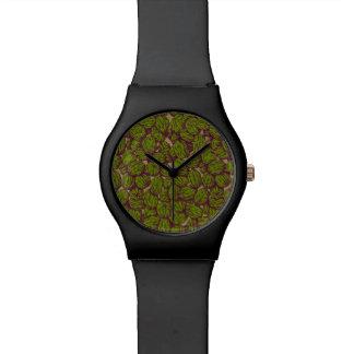 Walnut Pattern Wrist Watch