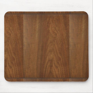 WALNUT WOOD American finish  blank blanche + TEXT Mouse Pads