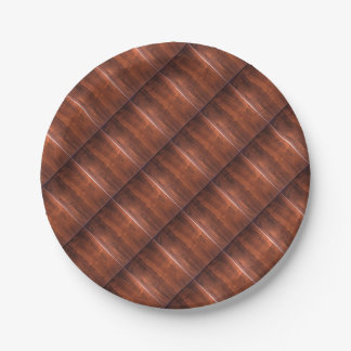 WALNUT WOOD WODDEN FINISH GIFTS 7 INCH PAPER PLATE