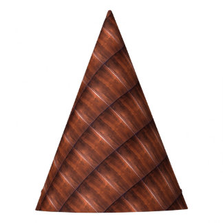 WALNUT WOOD WODDEN FINISH GIFTS PARTY HAT