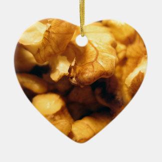 Walnuts Ceramic Heart Ornament