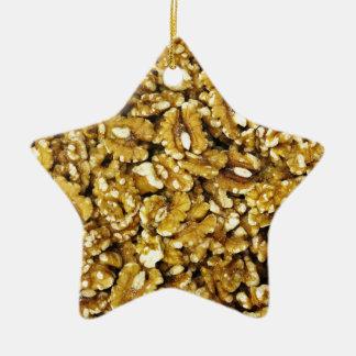 Walnuts Ceramic Star Ornament