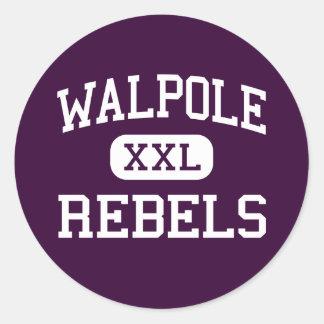 Walpole - Rebels - High - Walpole Massachusetts Sticker