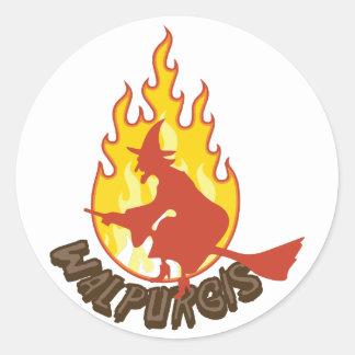 Walpurgis Round Sticker