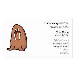 Walrus. Business Card Template