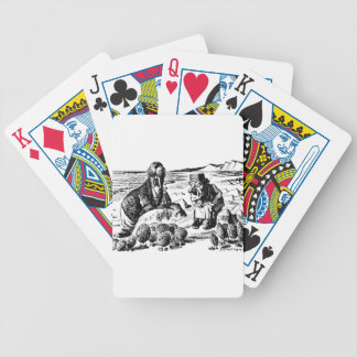 Walrus, Carpeter and Oysters Bicycle Playing Cards