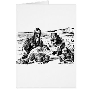 Walrus, Carpeter and Oysters Card
