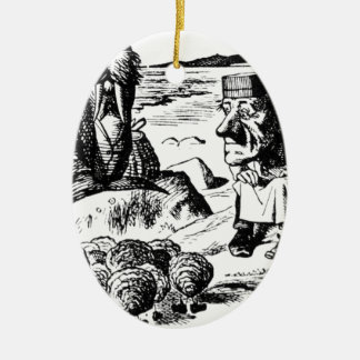 Walrus, Carpeter and Oysters Ceramic Ornament