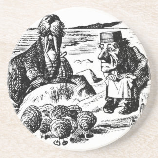 Walrus, Carpeter and Oysters Coaster